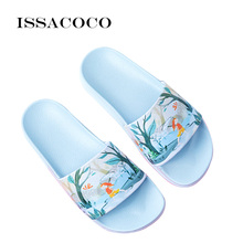 ISSACOCO Women Flat Non-slip Slippers Womens Summer Indoor Lovely Cartoon Pantufa Zapatos Mujer Klapki