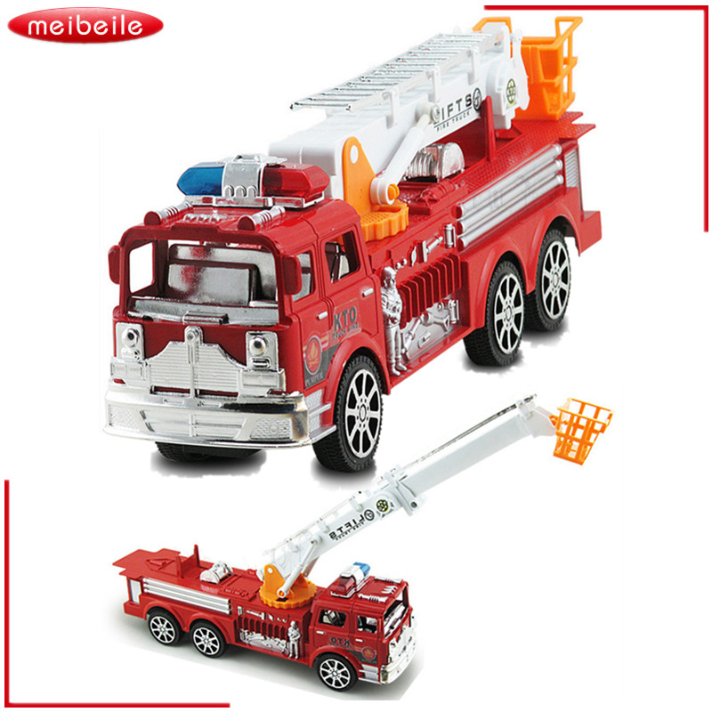 2019 Children Toys Big Fire Truck Model Ladder Inertia Car Large Simulation Fire Engine Pull Back Toy Vehicle Cars for Kids Boys