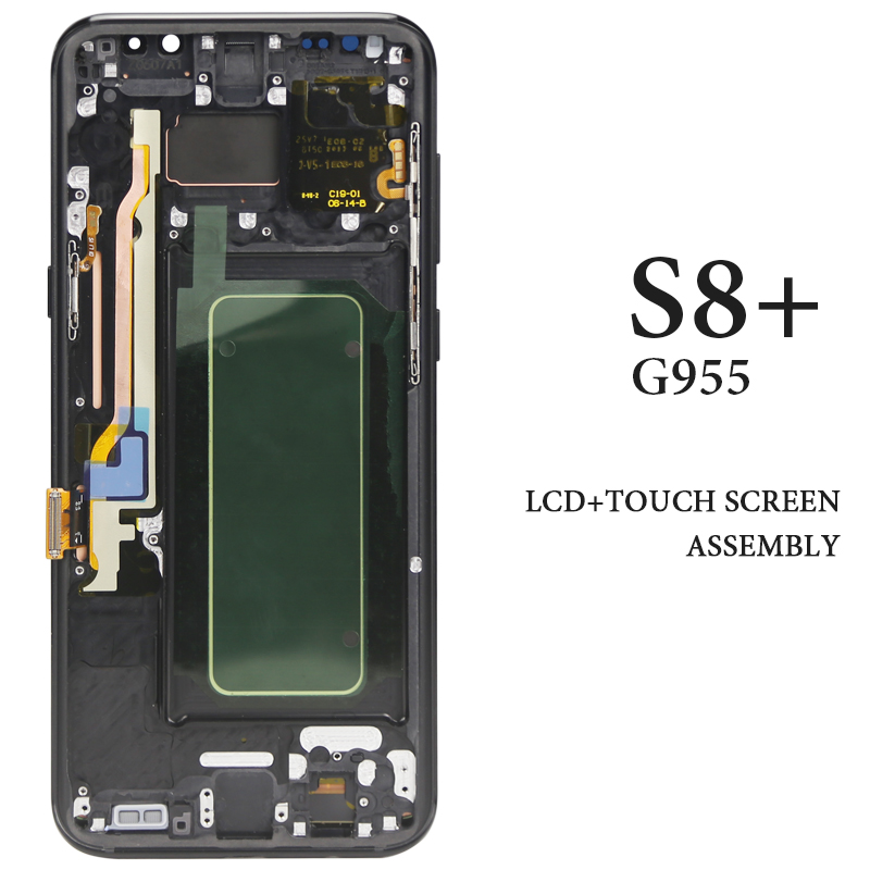 6 2 AMOLED Panel For Samsung Galaxy S8 Plus G955 LCD Display With Frame Assembly Phone