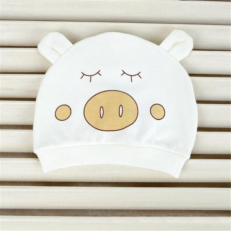 Демисезонный детская шапка новорожденных Дети для девочек и мальчиков Теплый Хлопок мультфильм шапочка Шапки костюм для 0 ~ 3 месяцев NDA84L28