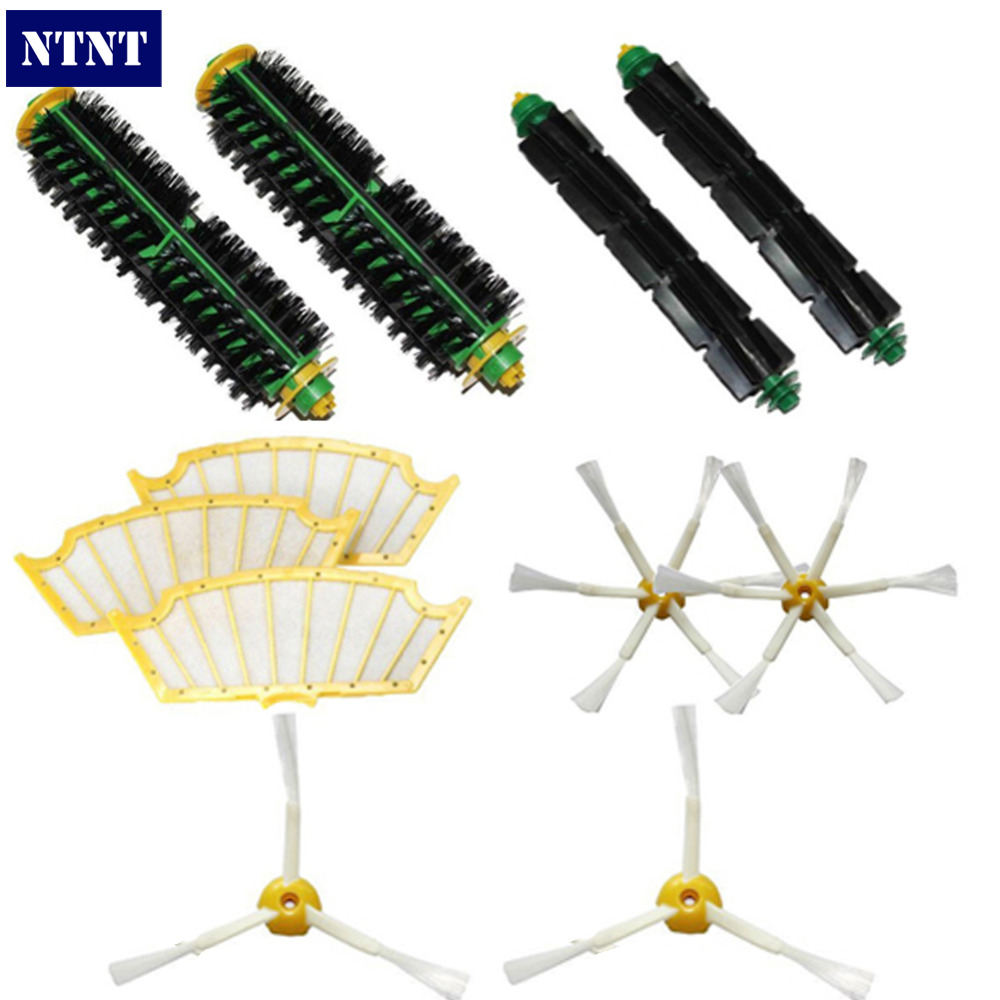 NTNT Free Post New 3/6 Brush & Filters kit for iRobot Roomba 500 Series 510 530 540 550 560 580 570 ntnt free post new 2 x flexible beater brush for irobot roomba 500 series 550 560 570 580 510 530