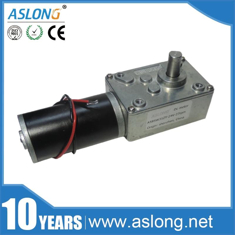 цена на ASLONG A58SW31ZY 7-470rpm DC 24v Worm Geared Motor 1.6-70kg.cm High Torque D Shaft 12v Motor Rotating Table Door Self-lock