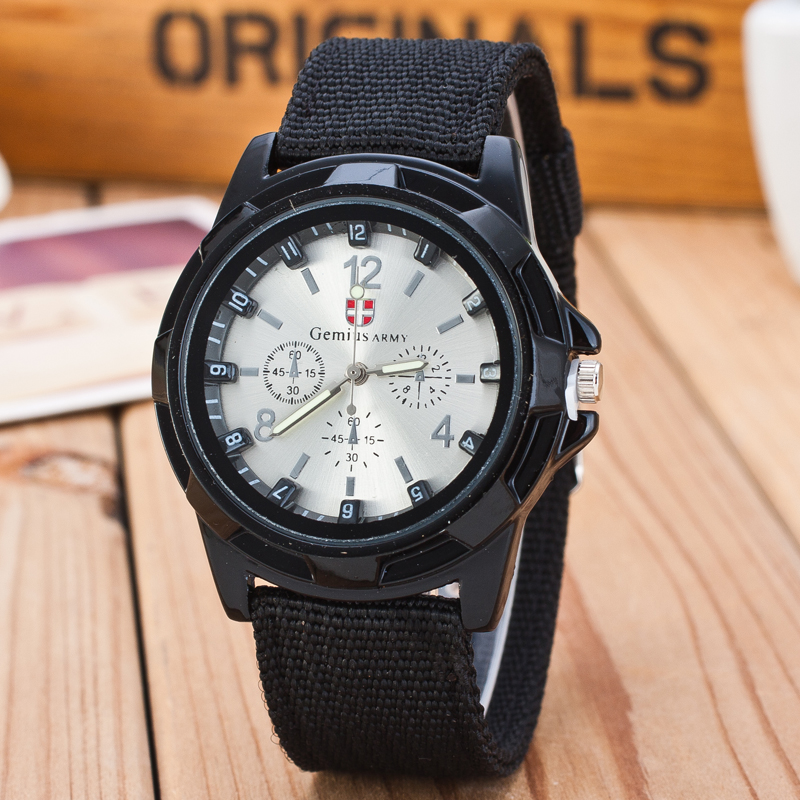New Fashion Brand Soldier Military Quartz Canvas Strap Fabric Watch Men Sports Watches Relogio Masculino Hot Sale Casual Clock in Quartz Watches from Watches