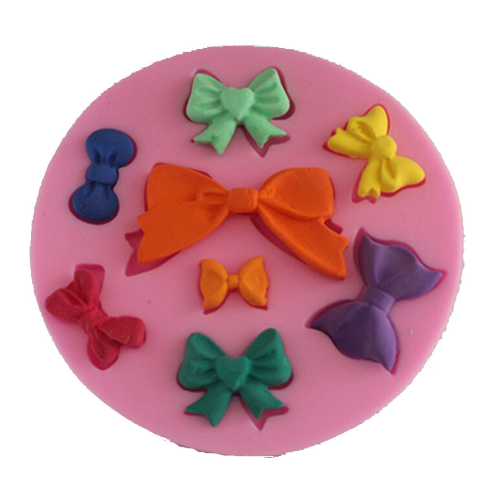 F1085 Bowknot Silicone Fondant Mold Gum Paste Cake Decorating cake ...