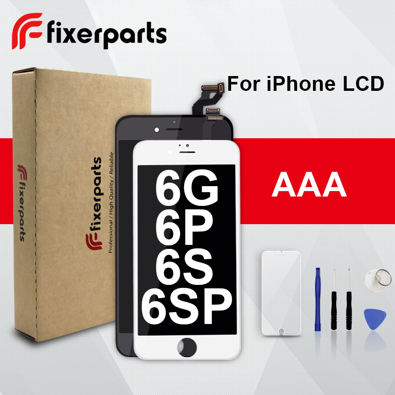 1 piezas de grado AAA LCD para iphone 6 Pantalla de reemplazo de digitalizador de pantalla táctil de la Asamblea para el iphone 6 lcd con el Kit de herramientas