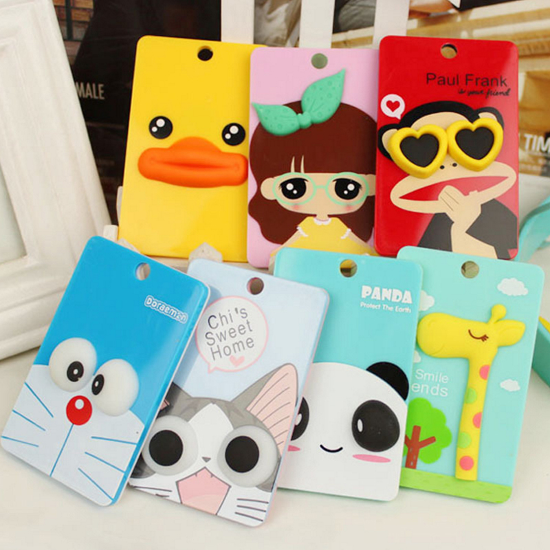 4 Pcs/Lot Cute Doraemon Duck Panda Cartoon Style Key Chain For School Bus Bank Card Office Material School Supplies Stationery