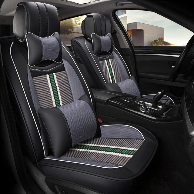 2018 New style Leather car seat cover for geely mk toyota prius jeep grand cherokee bmw x5 f15 e70  auto car accessorie styling