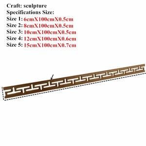 Image 2 - 装飾ライン花ウッド刻まれたデカールコーナーアップリケフレーム壁家具木彫り木製置物工芸品ホーム100センチ
