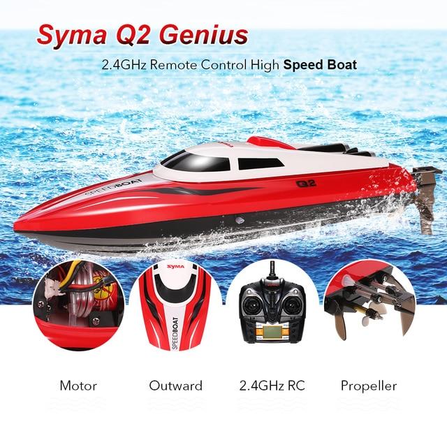 Original SYMA Q2 Genius 2.4G 2CH Remote Control Boat 180 Flip High ...