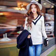 dabuwawa v neck sweater 2016 new korean fashion slim knit sweaters women wholesale