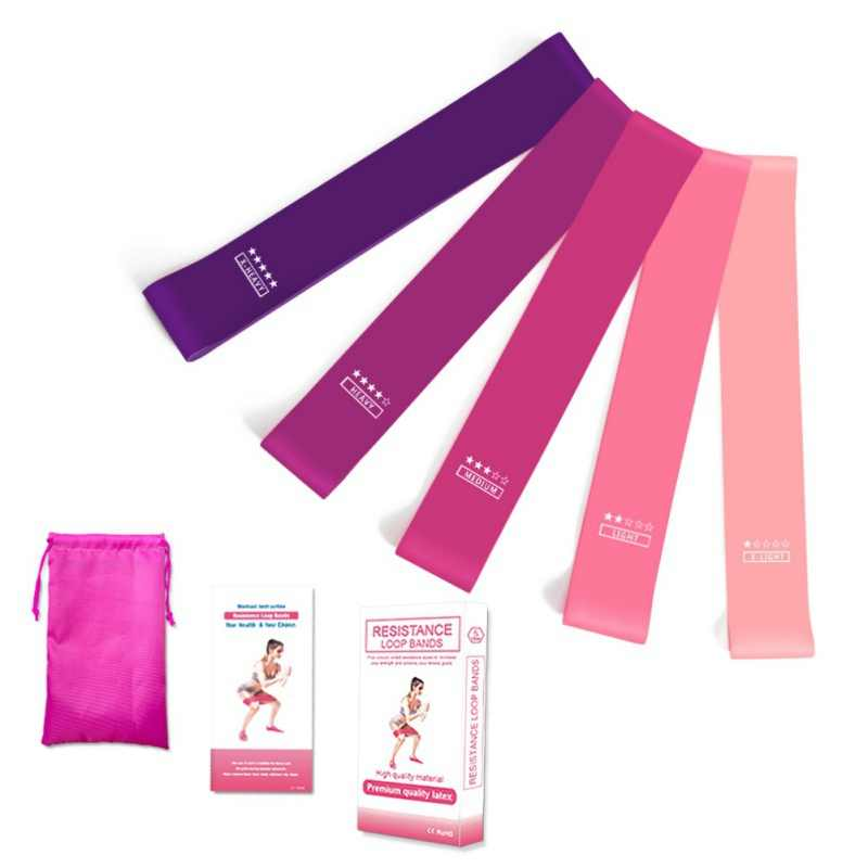 5 sztuk 60 cm Fitness elastyczne naturalne lateksowe Mini Sport siłownia trening Expander szkolenia joga Pilates ćwiczenia zespoły oporu