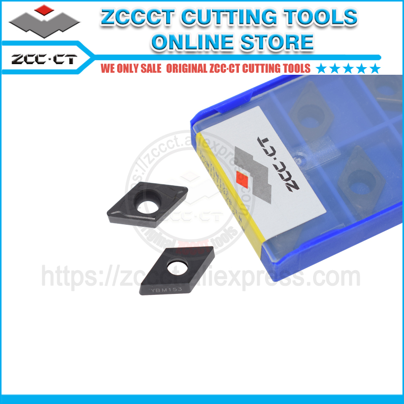 10pcs ZCC turning tool cutter DCMT11T308 EM YBM153 ZCCCT carbide cutting tools insert DCMT11T308 for stainless