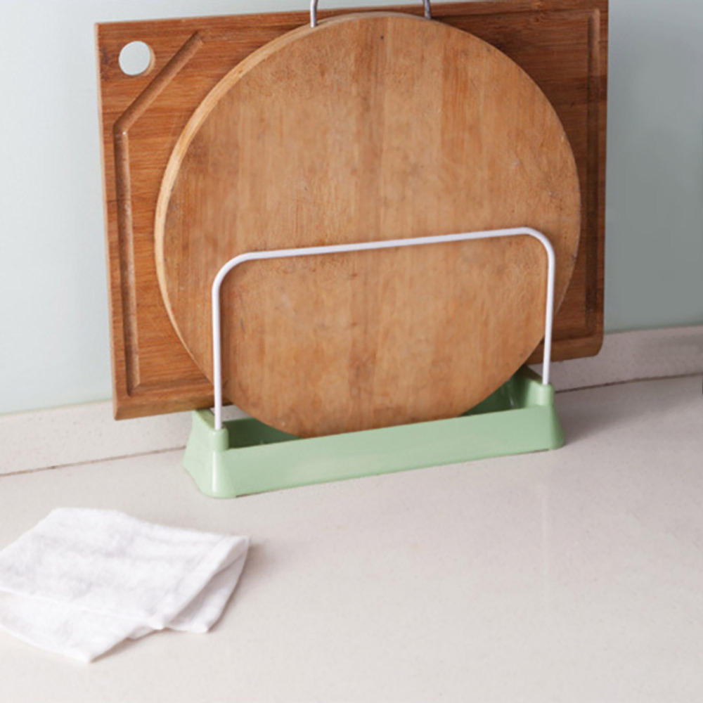 Single Cutting Board Holder Knife Block Tools Organizer Kitchen Storage Rack Stainless Steel Dish Rack Cutting Boards Stand