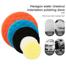 5pcs Polished Sponge Disc 3/4/5/6/7 Inch Buffing Polishing Pad Hand Tool Kit For Car Polisher Wax free shipping
