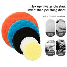 цена на 5pcs Polished Sponge Disc 3/4/5/6/7 Inch Buffing Sponge Polishing Pad Hand Tool Kit For Car Polisher Wax free shipping