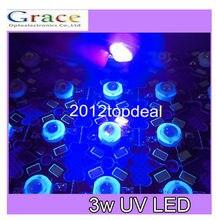 10 pces 3 w de alta potência led uv luz chip 395-400nm ultra violeta com 20mm estrela pcb diy