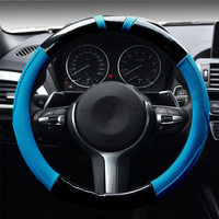 2016 New Five Elegant Luxury Car Steering Wheel Cover Carbon Fiber Genuine Leather Trend Odorless Sets