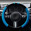 2016 New Five Elegant Luxury Car Steering Wheel Cover Carbon fiber Genuine leather Trend Odorless Sets 37-38cm Auto accessories