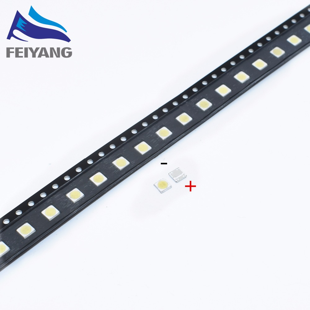Active Components 50pcs For Sharp Original Led Lcd Tv Backlight Application 3535 3537 Light-emitting Light Beads Cool White High Power 1-1.2w 6v