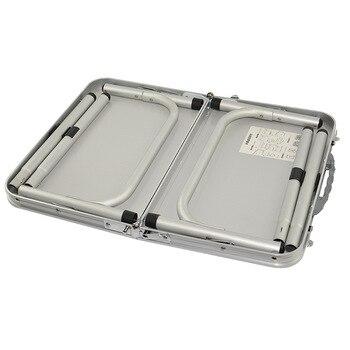 Leichte Klapptische | H Leichte Aluminium Folding Camping Tisch Mit Griff Laptop Bett Schreibtisch Tragbare Verstellbare Außen Tabelle BBQ Einfache Wasserdicht