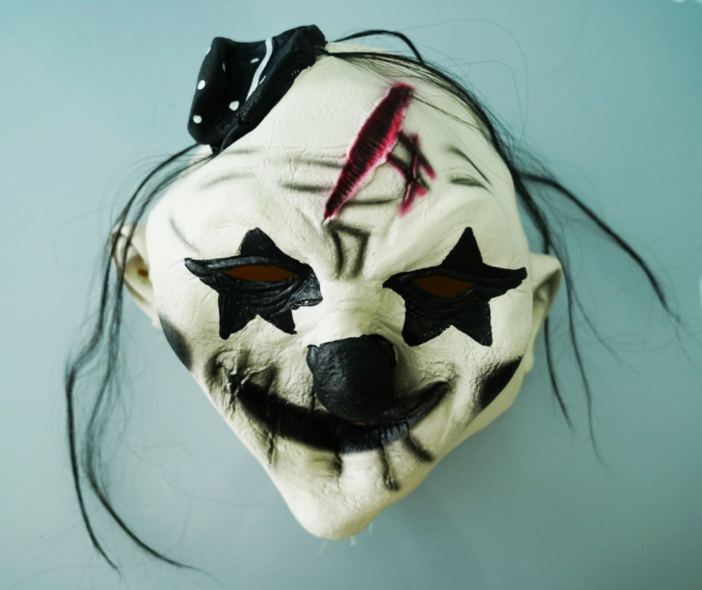 Halloween Children's Striped Kill Clown Cospaly Party Costumes Kids Jumpsuit Mask Killer Clown Costume