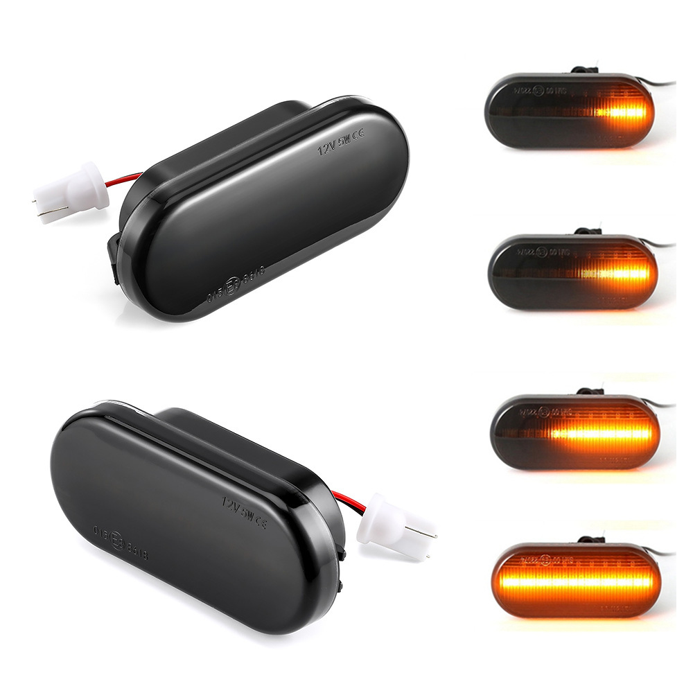 2pieces Led Dynamic Side Marker Turn Signal Light For Volkswagen VW Bora Golf 3 4 Passat 3BG Polo SB6 SEAT Ibiza Leon Skoda Ford