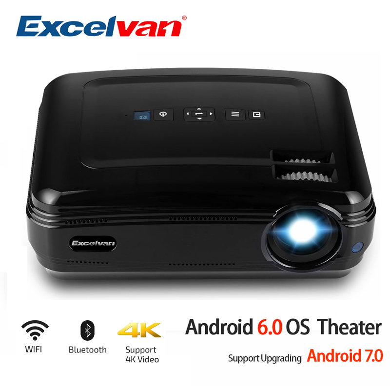 Excelvan BL59 LEVOU Projetor 3500 Lumen Android 6.0 WI-FI Embutido Bluetooth Apoio 4 K Vídeo Proyector Beamer Full HD 1080 P LEVOU TV