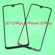 Lente exterior de cristal frontal de pantalla táctil LCD de repuesto de 10 piezas para Motorola Moto G7/G7 Plus/G7 potencia /G7 jugar
