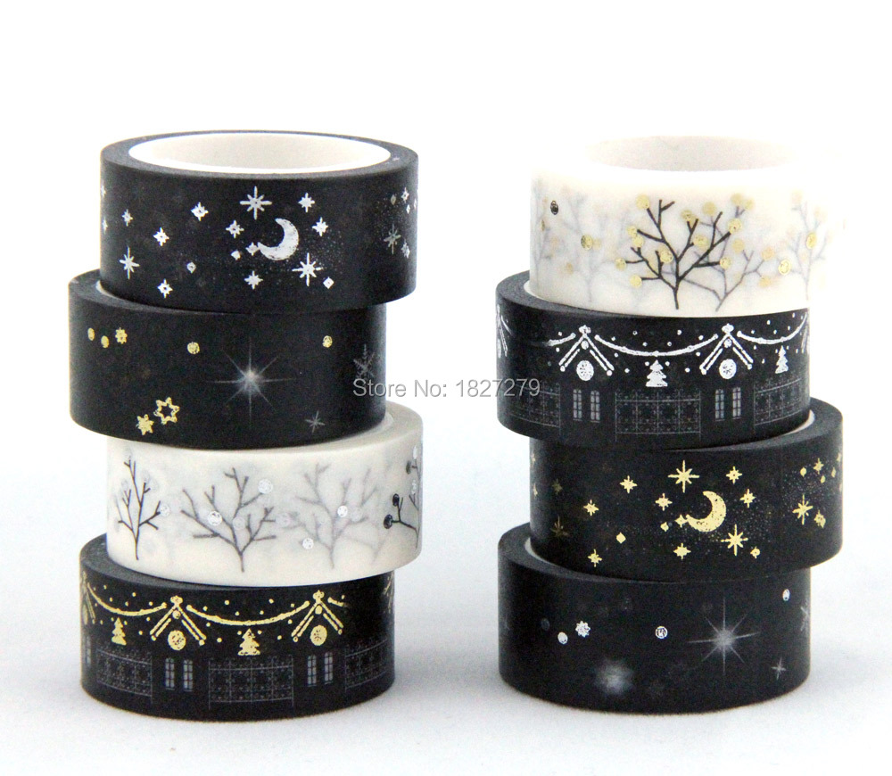 Hot sale! Golden blocking masking glod and silver adhesive japanese washi tape 10 rolls/lot saber gholizadeh navid dinparast djadid and hamid reza basseri malaria transmission blocking vaccine candidate in iran