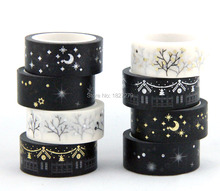 Hot sale Golden blocking masking glod and silver adhesive japanese washi tape 8 rolls lot
