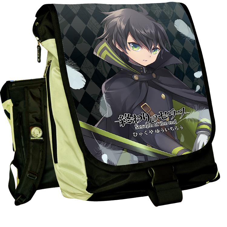 Anime Seraph of the end COSPLAY Yuichiro Hyakuya Casual fashion for men and womenComputer Backpack Student Bag Backpack anime seraph of the end cosplay yuichiro hyakuya casual fashion for men and womencomputer backpack student bag backpack