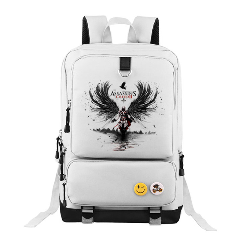 купить High Quality 2016 New Assassin's Creed Desmond Printing Backpack Military Backpack Mochila Canvas School Bags for Teenagers