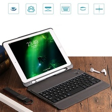 Case For iPad 2017/2018 9.7 Removable keyboard W Pencil Holder Stand Leather Cover For iPad 9.7 tablet Keypad klavye A1893 A1954 все цены