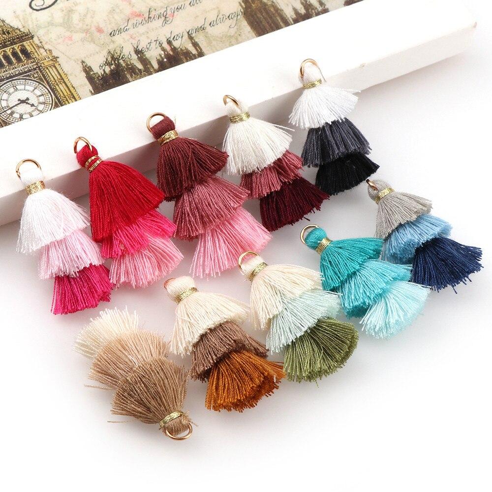 Mixed Silky Tassels Pendant Sewing Craft wedding DIY decoration Accessories 3cm