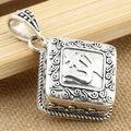Thai silver 925 sterling silver pendants  Silver silver tibetan gau box pendant om mani padme hum pendant