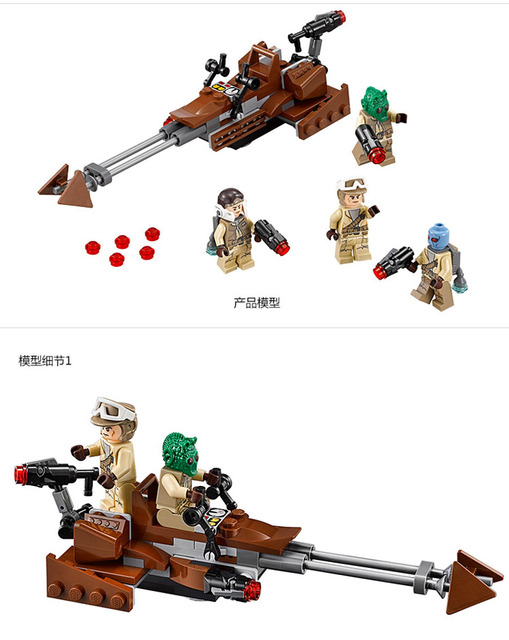 [Yamala] Star Wars  Force Awakens Rebel Alliance Battle Pack Action  Building Blocks Bricks toy Compatible legoingly Starwars