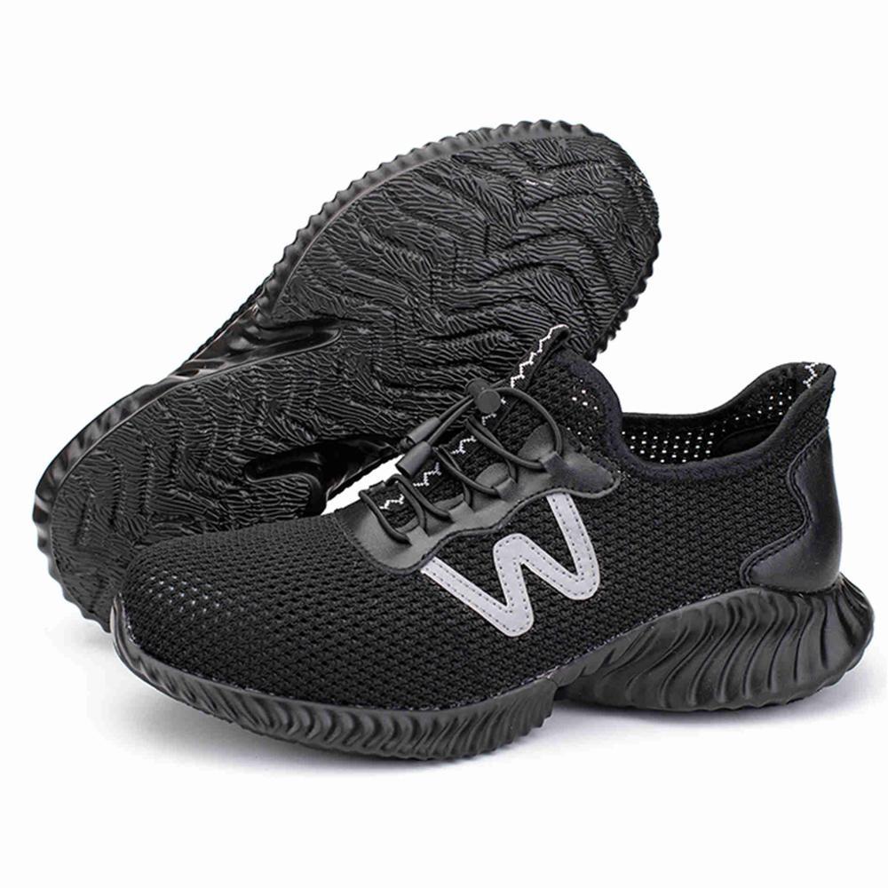 Для Мужчин's Сталь носком рабочие защитные ботинки, обувь; Воздухопроницаемый материал; Рабочая обувь анти-прокол противоскользящий дизайн Повседневное защитная обувь - Цвет: Black Style A