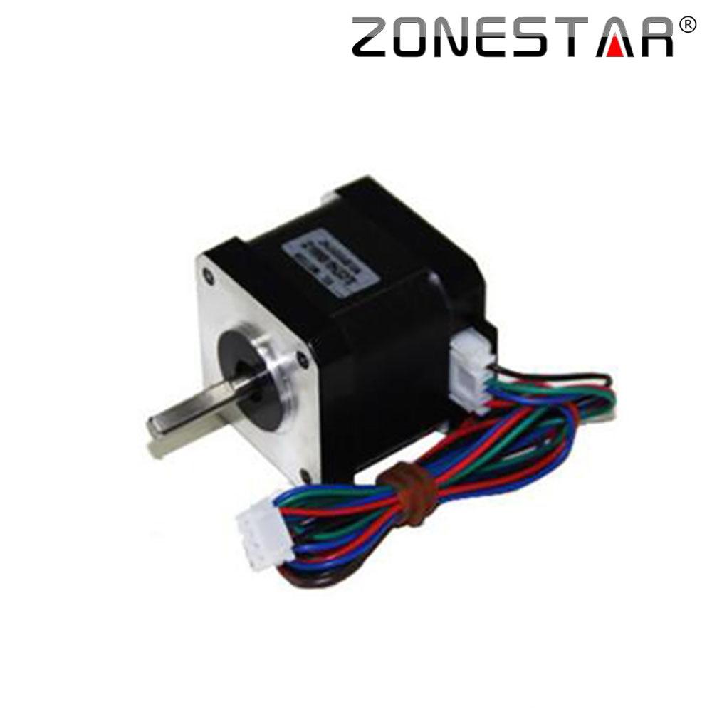 ZONESTAR lépcsős motor SL42STH40-1684MA-23 SL42STH40-1684MA-16 Nyomaték: 4000g.cm Áram: 1.7A 1,8 fok lépésenként 5 mm tengely gyémánt