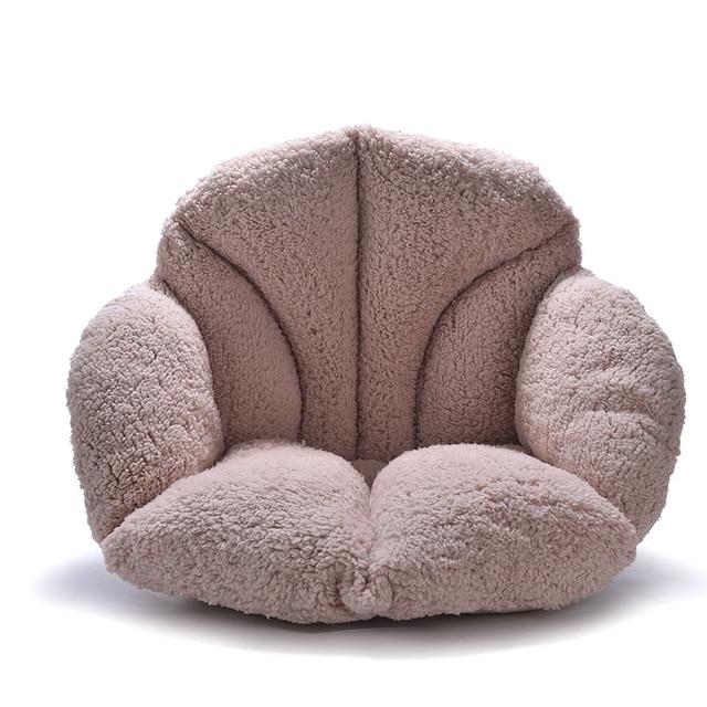 Fluffy Fur Seat Cushion Coffee Khaki Pink Plush Pillow Decorative Pillows  Luxury Soft Warm Vintage Chair