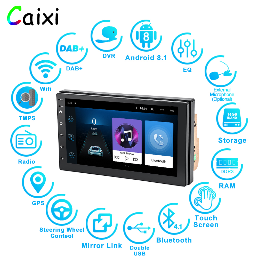 Image 2 - 2 Din Android 8.1 Car Radio Multimedia  For Nissan Volkswagen TOYOTA Honda KIA Hyundai  mazda Universal auto Stereo GPS MAP-in Car Multimedia Player from Automobiles & Motorcycles