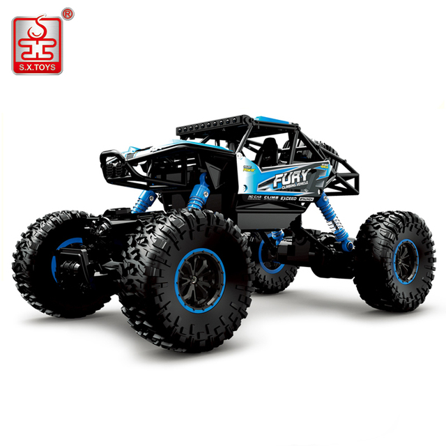 S.X.TOYS RC Car 4WD 2.4G Remote Control Model Climbing Car Scale 1:16 Rally Shockproof Car Buggy Highspeed Off-Road Vehicle Toys
