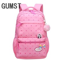 GUMST Kids School Bags Children Backpacks Girls Backpack Schoolbag Mochila Bookbag Big and Small Size Kids Baby Bags(China)