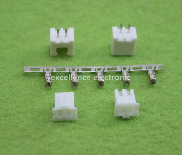 500sets/Lot 2 Pin Connector Leads Header 2.54mm XH-2P Kit Housing Pin header Terminal Free Shipping
