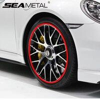 8 м колеса автомобиля обода наклейка хромированное колесо украшение в авто шины диски покрытые полосы защиты наклейка на Автомобильные куз...