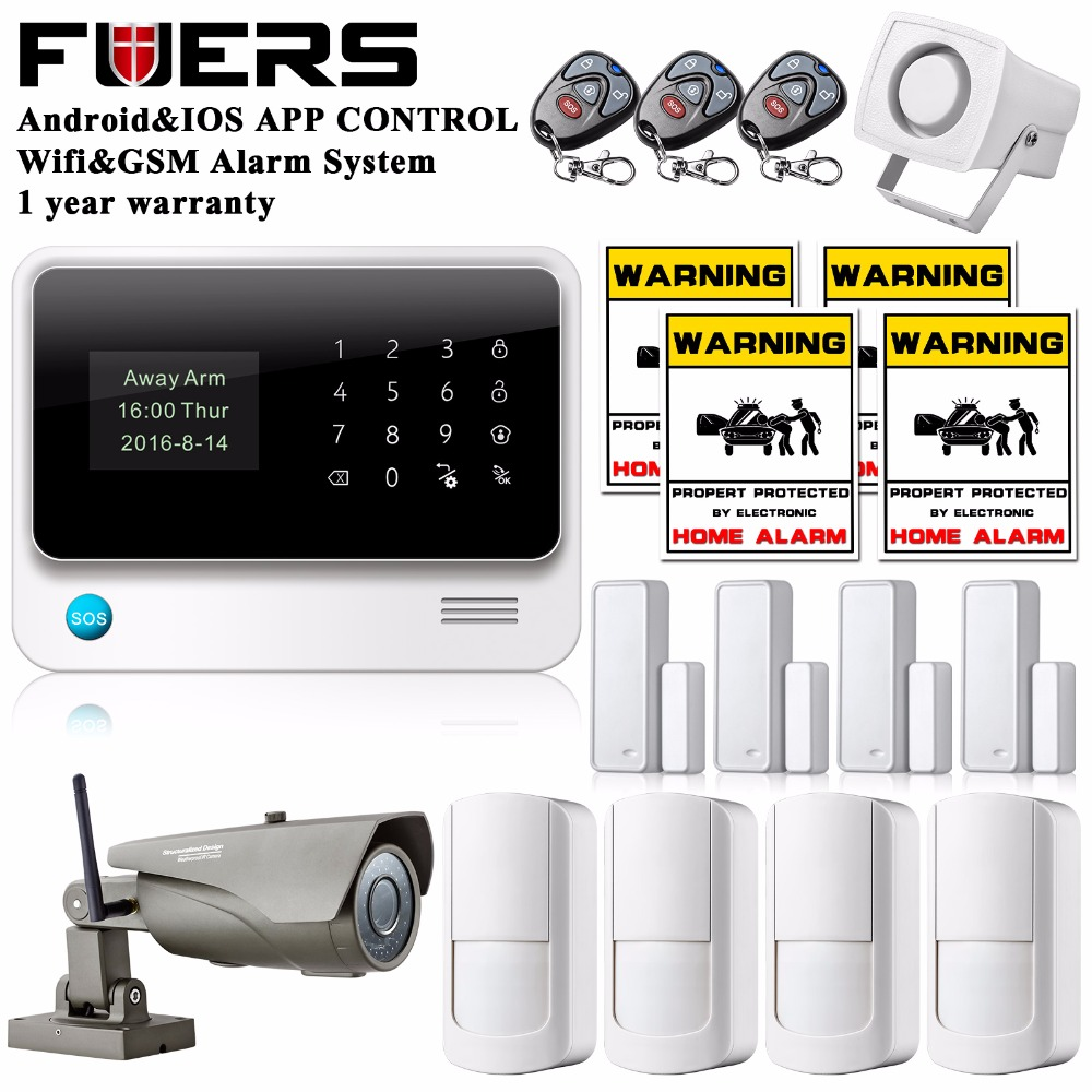 4pcs lots PIR detector door sensor APP Control Intruder Burglar WIFI GSM Security Alarm System Touch Keypad work with IP camera allarme gsm touch wireless app control gsm home alarm system burglar access wired siren door sensor pir detector 433mhz k9d