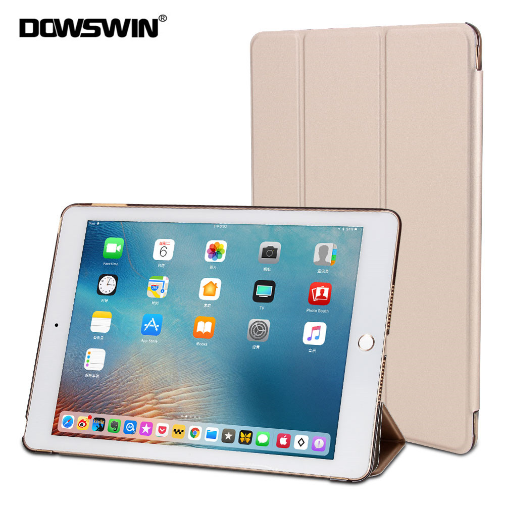 DOWSWIN Case For iPad 9.7 2017, for new ipad 9.7 2018 smart cover PU leather flip case for iPad 6th Generation A1822 ultra slim