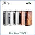 Ipower original eleaf 80 w mod con 5000 mah batería incorporada caja mod nuevo firmware de control de temperatura inteligente modo de vaporizador