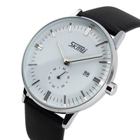 ファッションフェイクレザー男性腕時計男relojes時間ブルーレイガラスクォーツ時計メンズ腕時計トップブランドの高級カジュアル腕時計