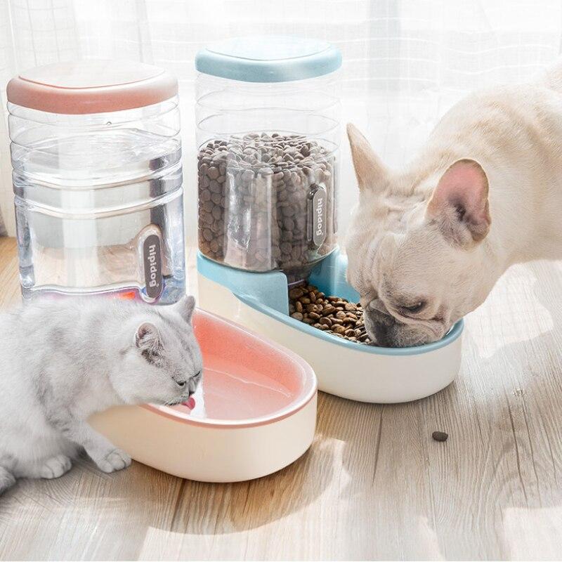 2019 OLN 3.8L Cat Pet Alimentadores Automáticos de Plástico Garrafa de Água Cão Dispensador de Água de Grande Capacidade de Alimentos Gatos Cães Bacias de Alimentação