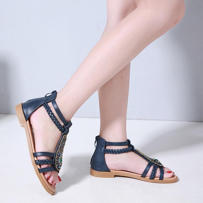 Verano Bohemia Mujer Zapatos Para Las De Sandalias 2019 Playa CBoxed